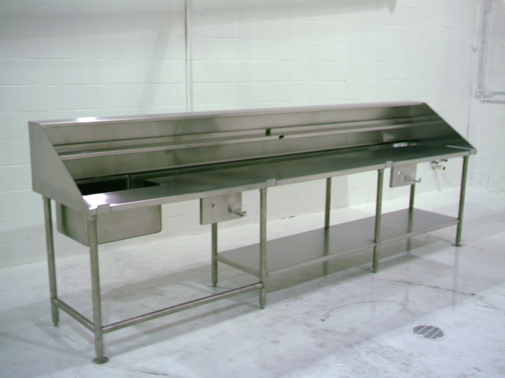 Custom Stainless Dish Tables