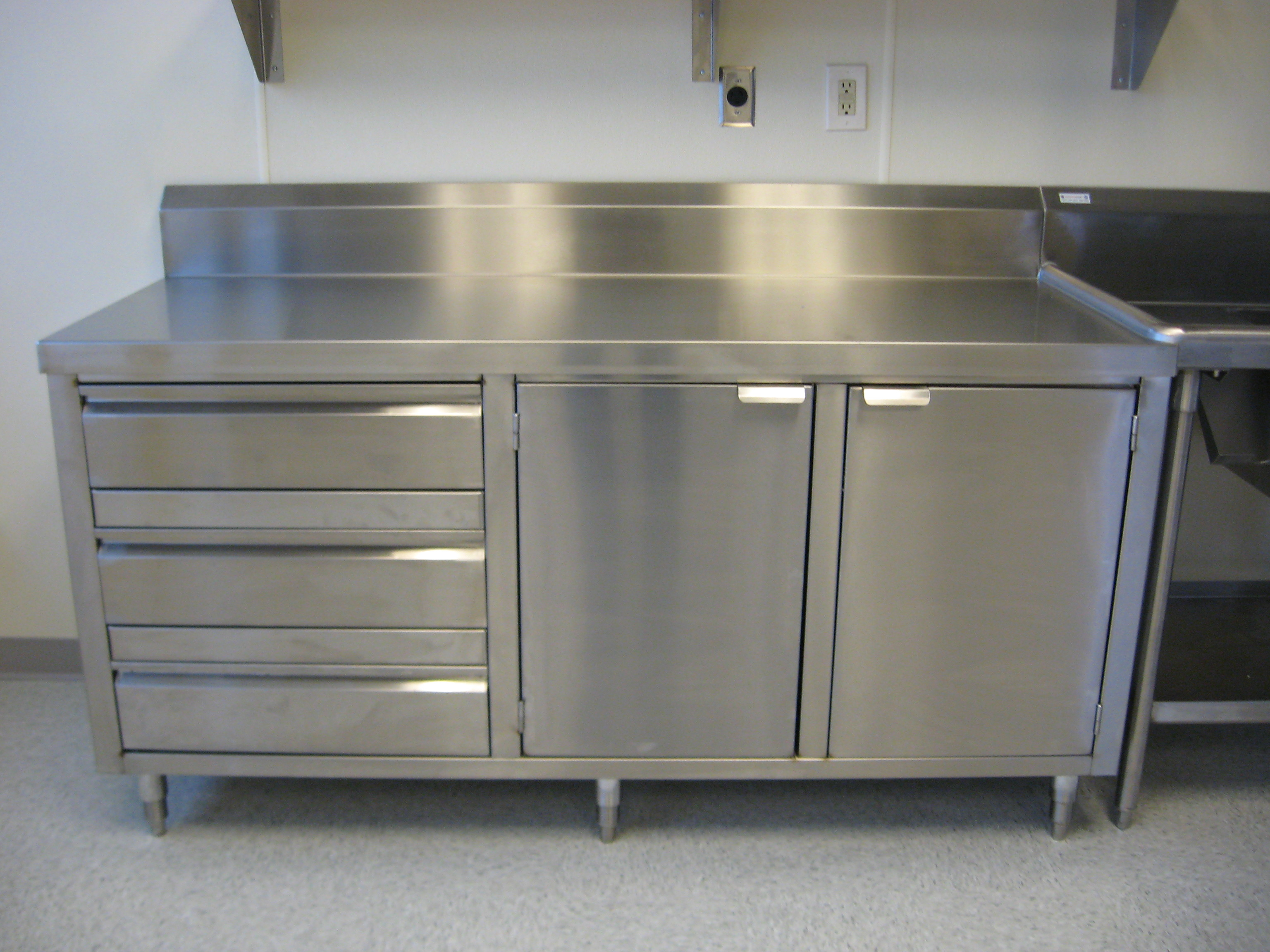 Custom Stainless Dish Cabinet